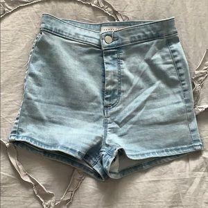 topshop legging high waisted jean shorts